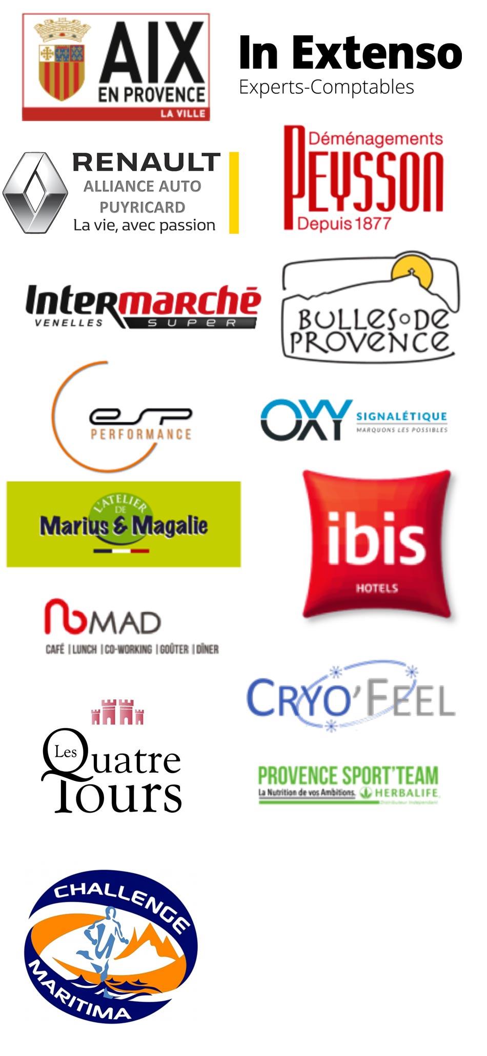Partenaires de la Nocturene de Puyricard 2019